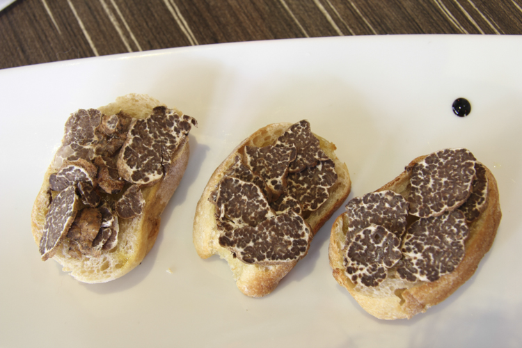 Fresh truffle toast